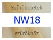 NW18 szűrőbetétek