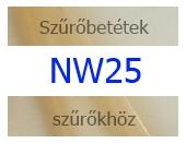 NW25 szűrőbetétek