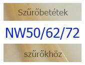 NW50 / NW62 / NW72 szűrőbetétek
